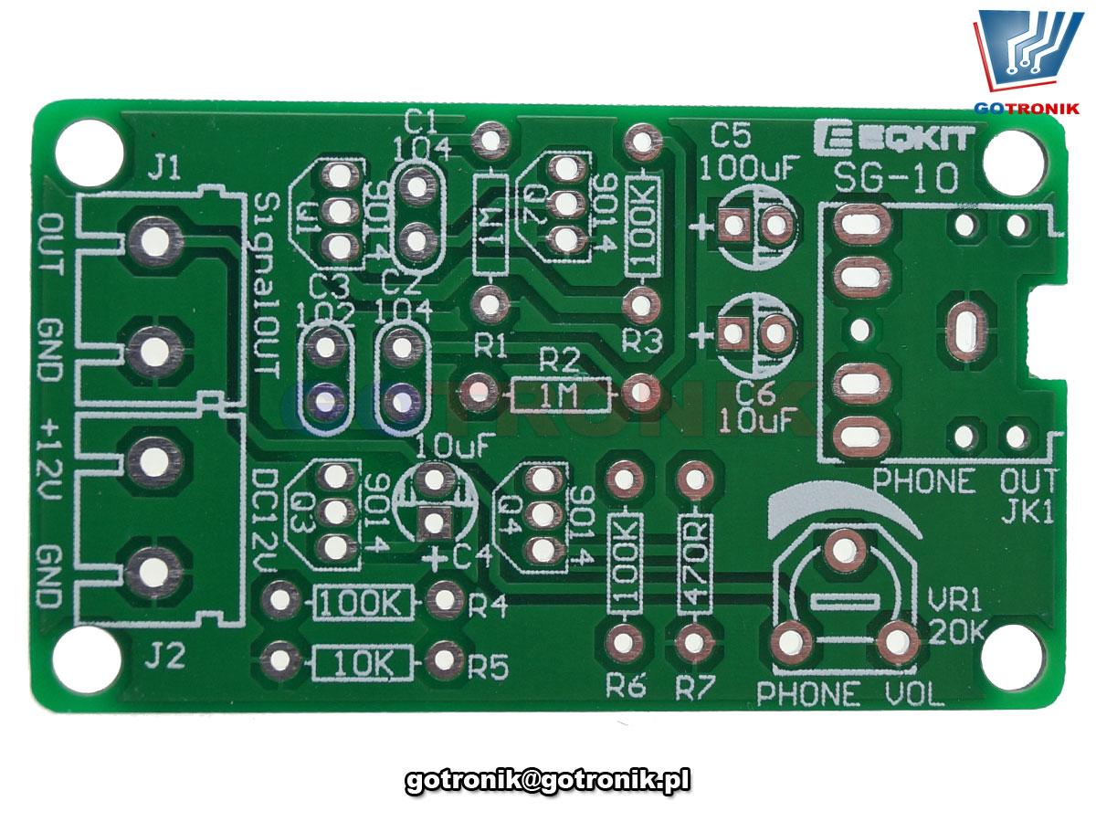 BTE-779 akustyczny generator szumu białego z wyjściem na słuchawki generator szumu akustycznego zestaw do samodzielnego montażu kit/diy