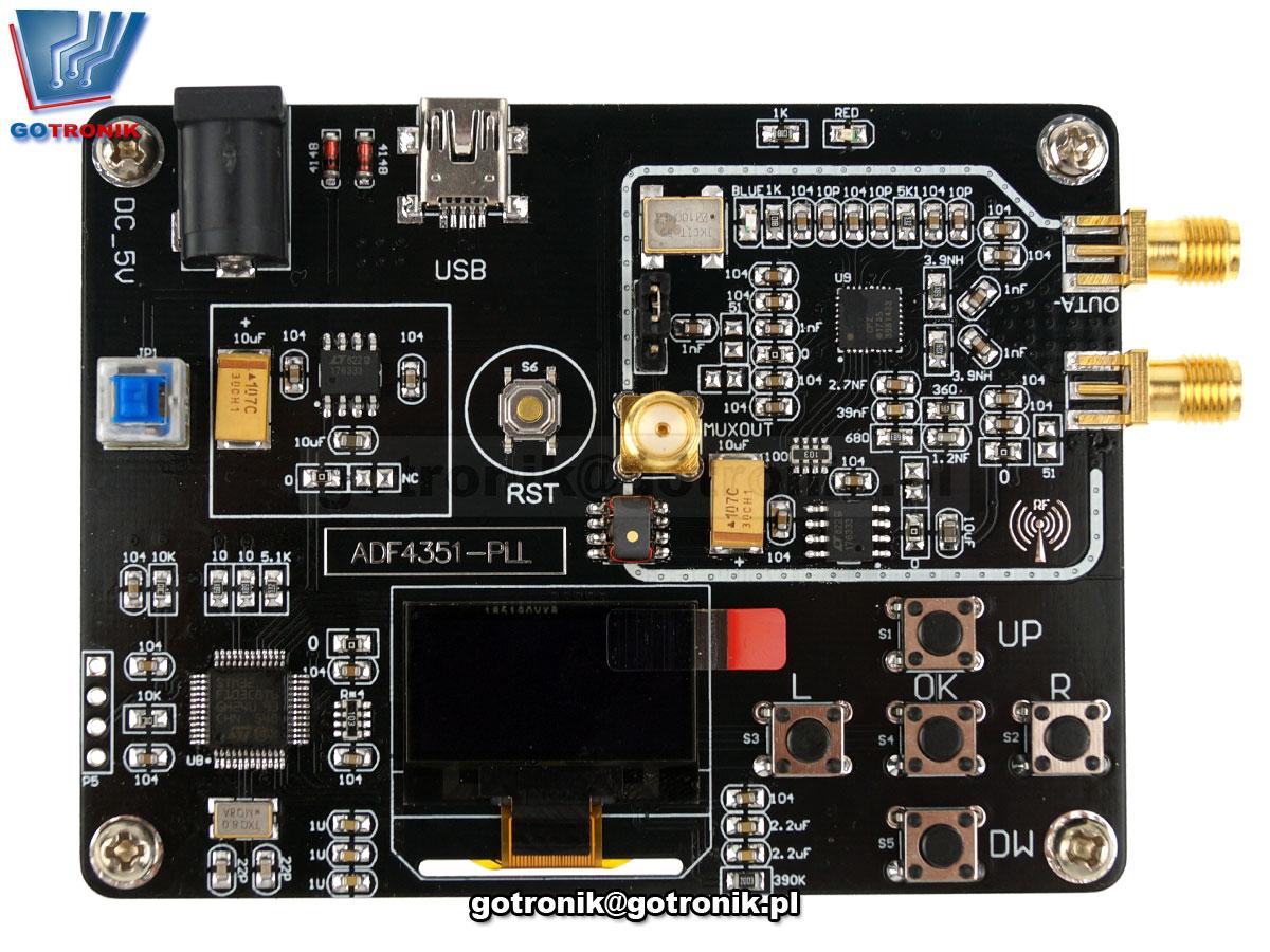 ADF4351 płytka ewaluacyjna generator RF 35M - 4,4GHz BTE-796