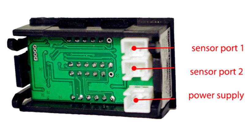 Podwójny termometr LED NTC -20°C do 100°C panelowy BTE-814 do samochodu