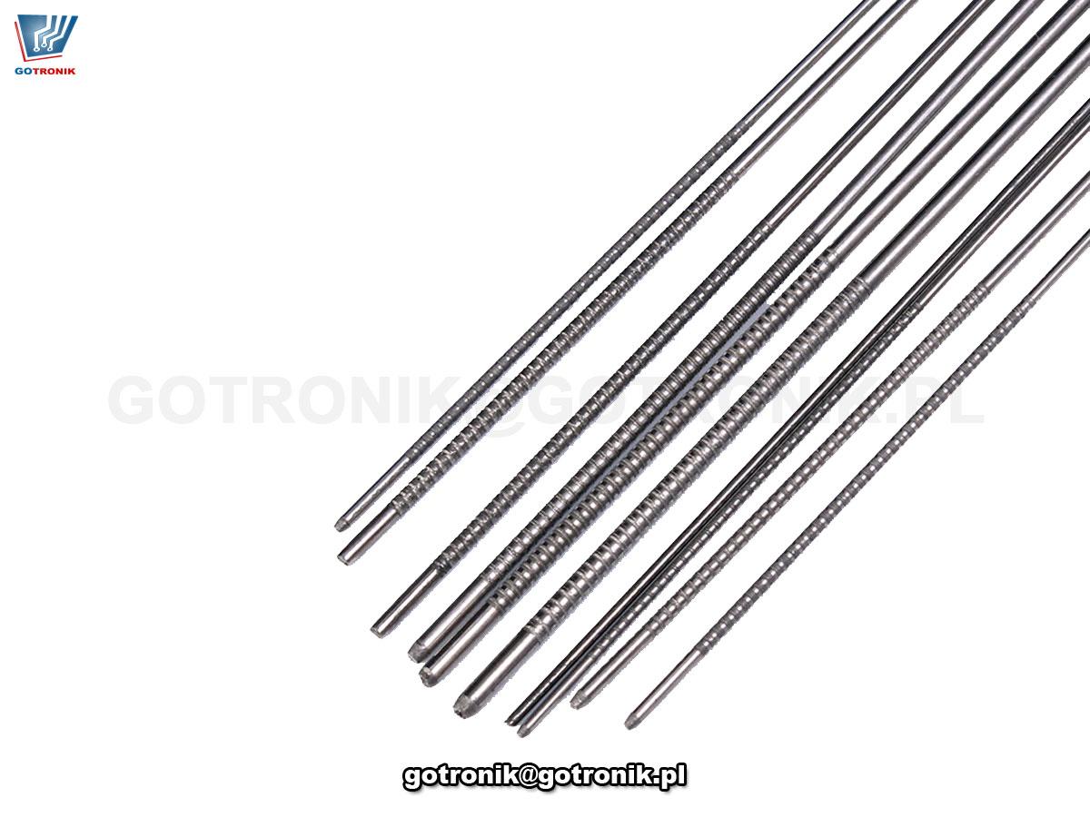 zestaw 10sztuk narzędzi: wyciory, przepychacze, igły stalowe do PCB BTE-815