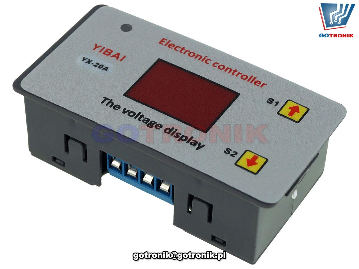 elektroniczny sterownik regulator procesu pracy akumulatorów 12V chroni akumulator przed całkowitym głębokim rozładowaniem BTE-817