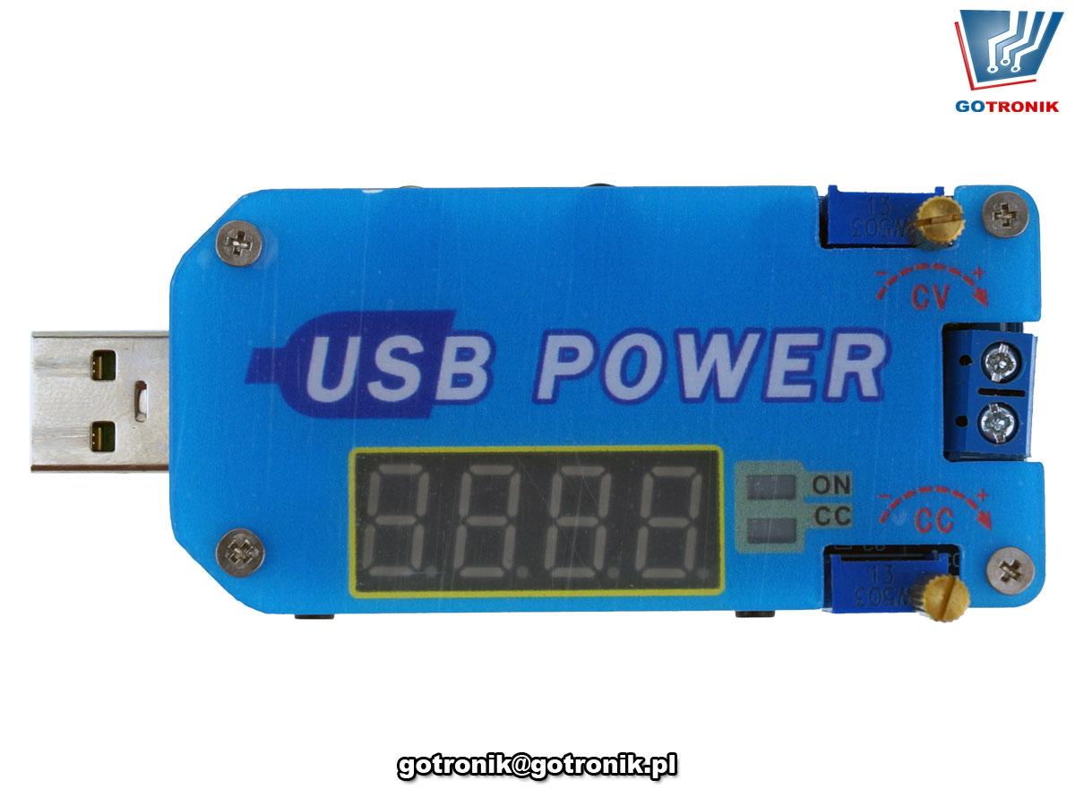Moduł mini zasilacza z regulacją prądu oraz napięcia 0 -30V DC BTE-818