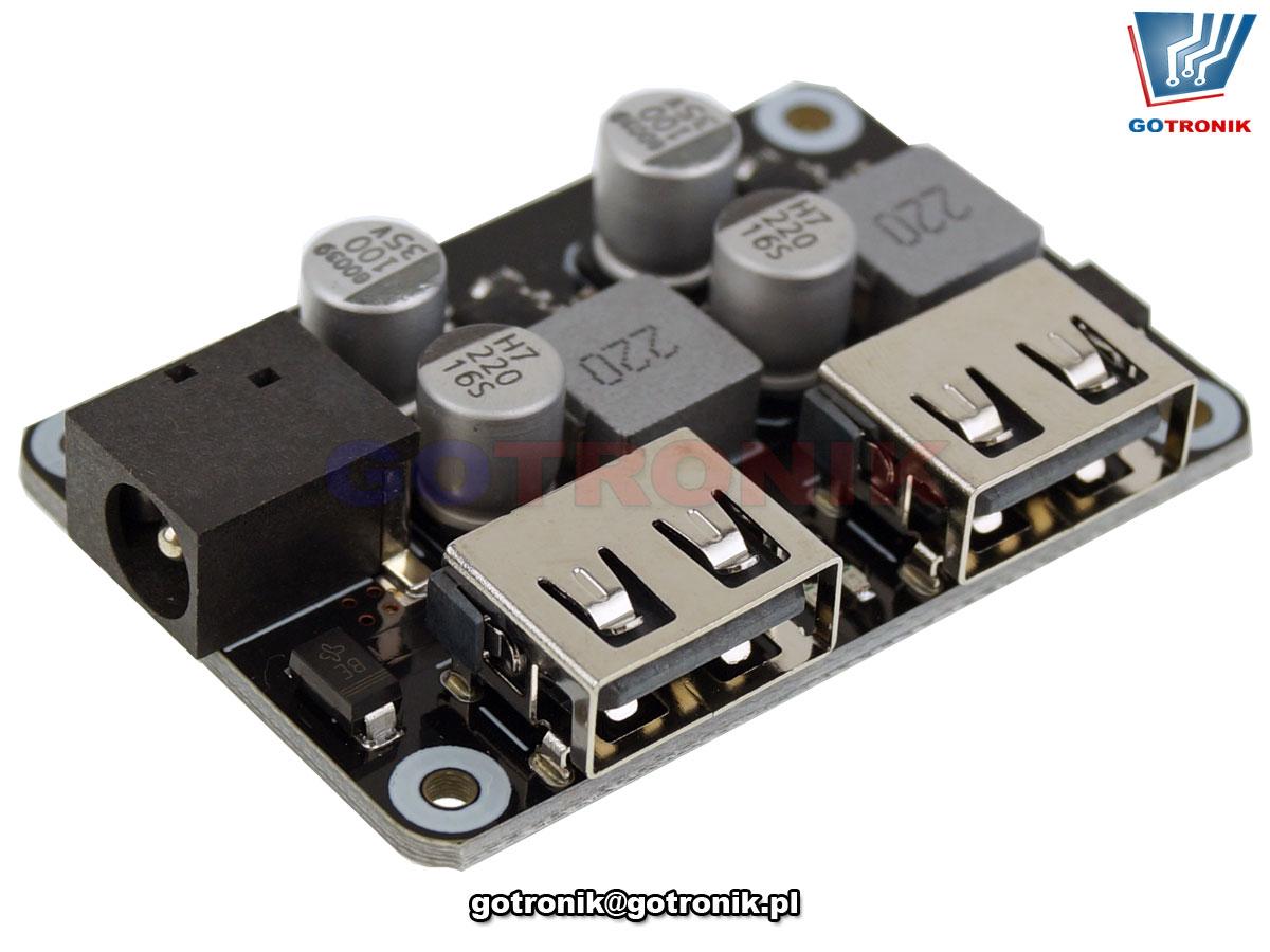 Przetwornica napięcia - szybka ładowarka USB QC2.0/3.0 podwójna BTE-842