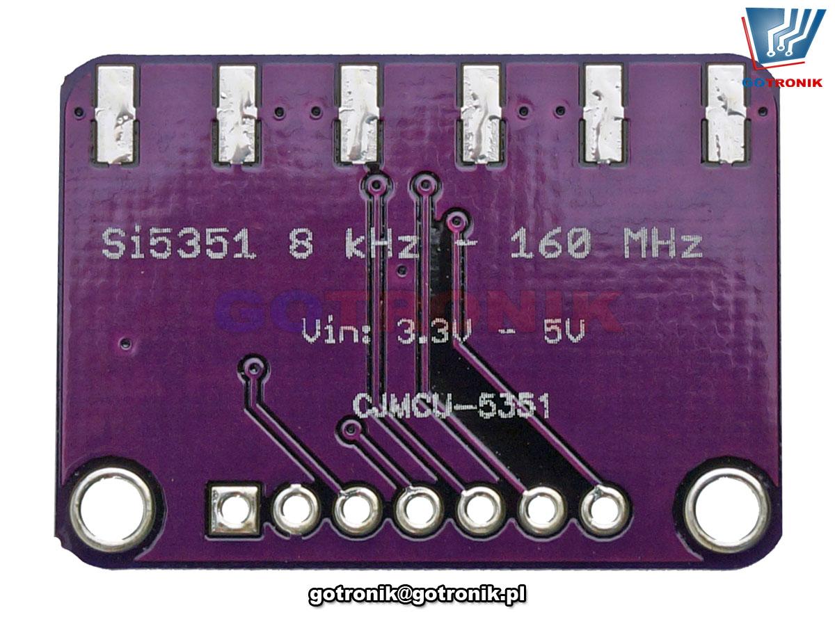 Generator sygnałowy Si5351A 160MHz interfejsem i2c BTE-881