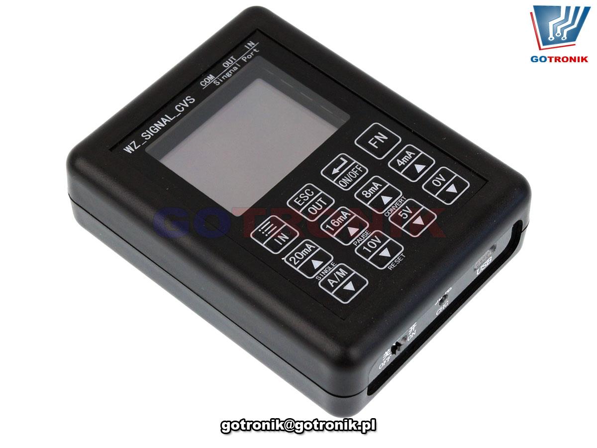 Kalibrator napięcia i prądu WZ SIGNAL CVS zadajnik symulator pętli prądowej BTE-885