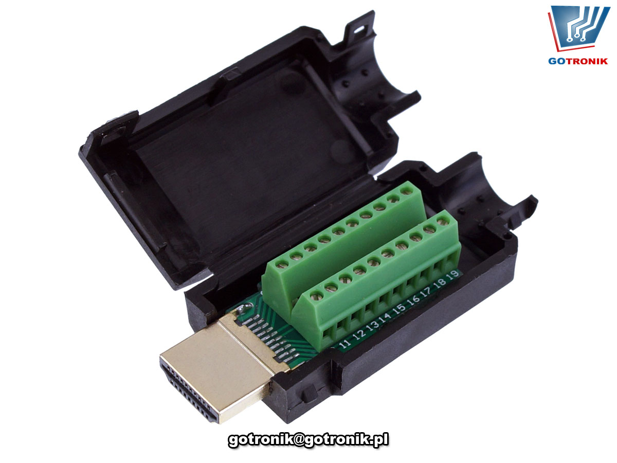 Wtyk HDMI z szybkozłączem w obudowie BTE-897