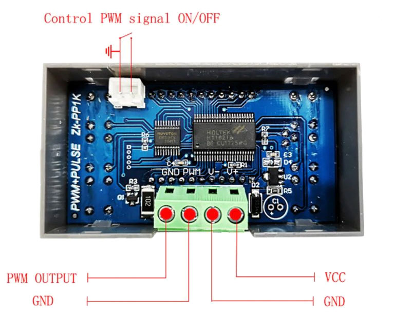 BTE-953 sterownik ZK-PP1K, generator PWM, generator przebiegu PWM, sterownik szerokości impulsu PWM, dwukanałowy generator sterownik PWM, regulator PWM,