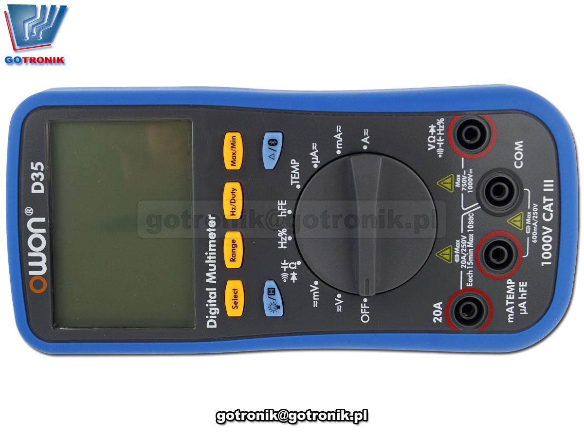 D35 Owon multimetr uniwersalny miernik cyfrowy LCD