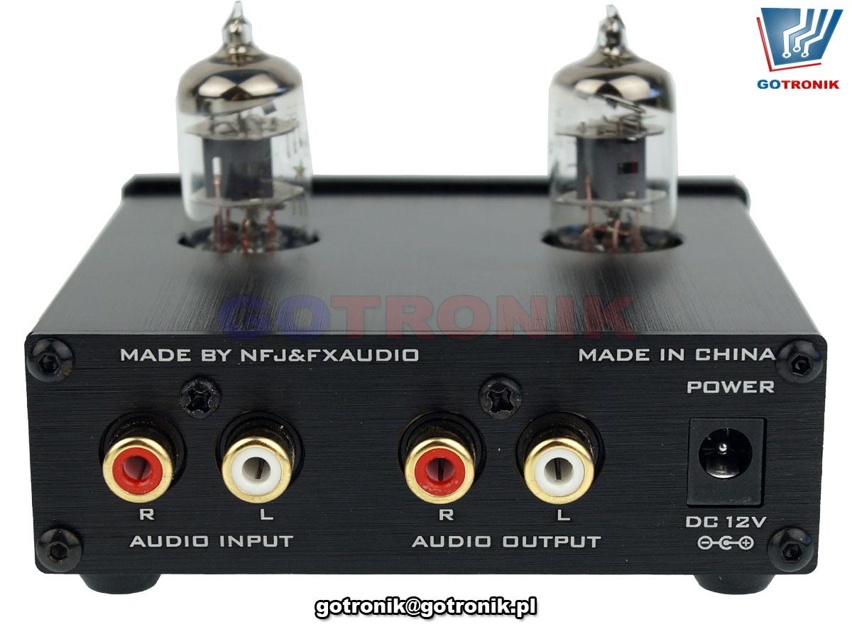 Przedwzmacniacz lampowy FX-AUDIO TUBE-01 HIFI czarny DPC-001