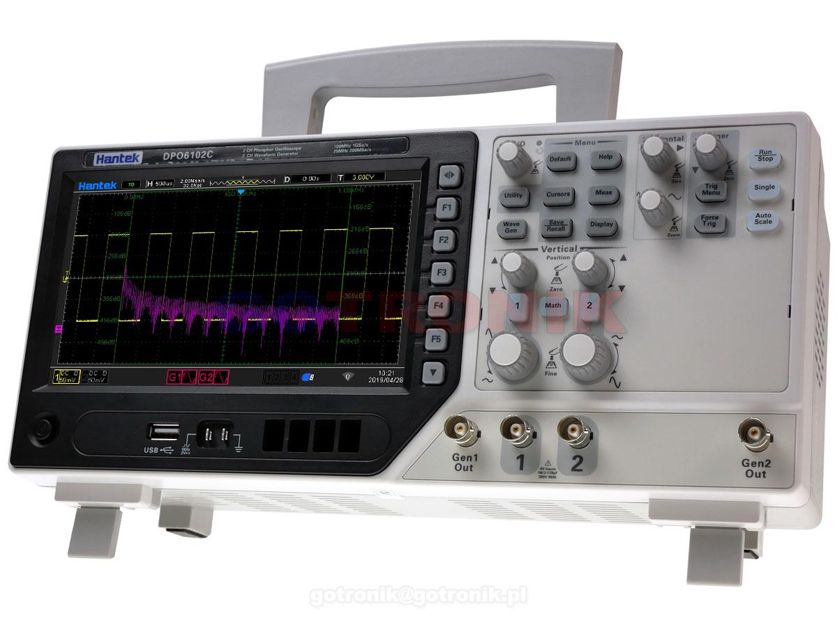 DPO6202B Hantek 200MHz oscyloskop cyfrowy dwukanałowy