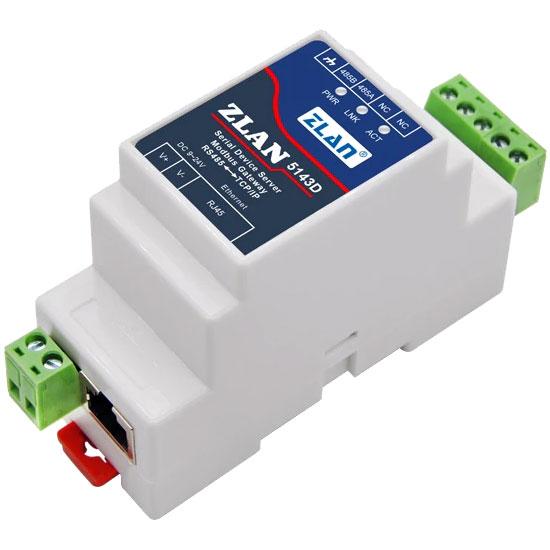 RS485 na Ethernet konwerter na szynę DIN ZLAN5143D ELEK-1733