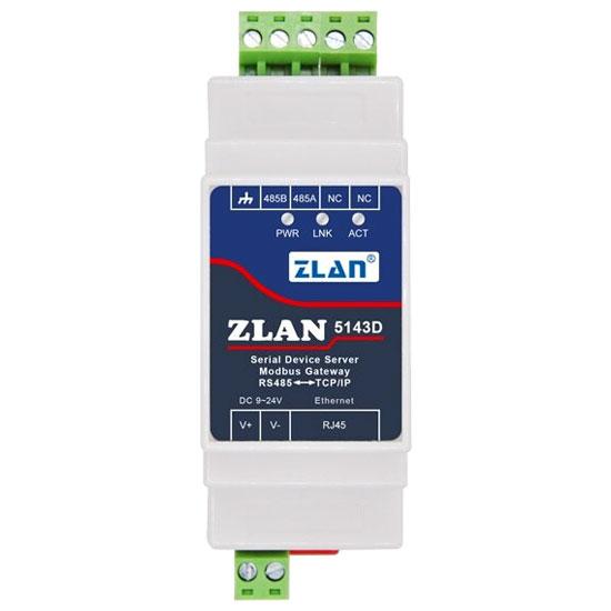 RS485 na Ethernet konwerter na szynę DIN ZLAN5143D ELEK-173