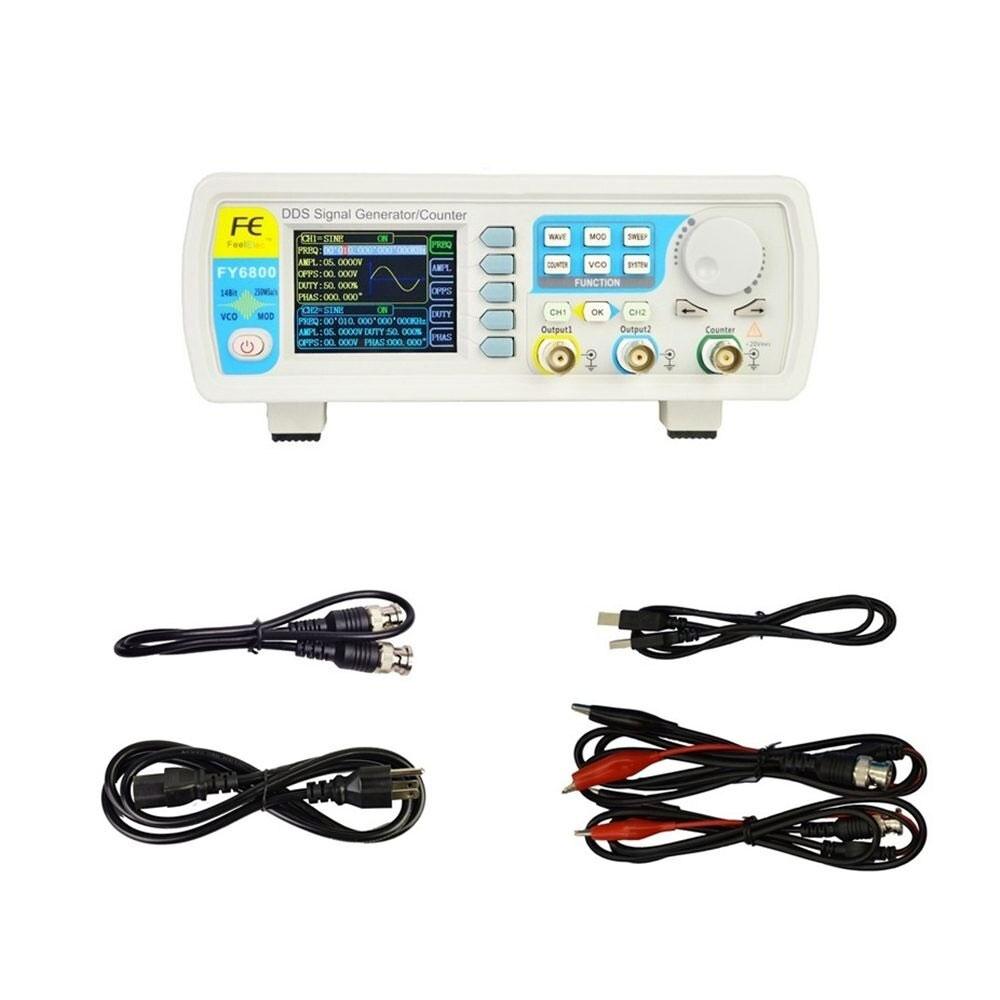 FY6800 Feeltech generator funkcyjny arbitralny stołowy laboratoryjny DDS dwukanałowy, miernik częstotliwości 100MHz FY-6800