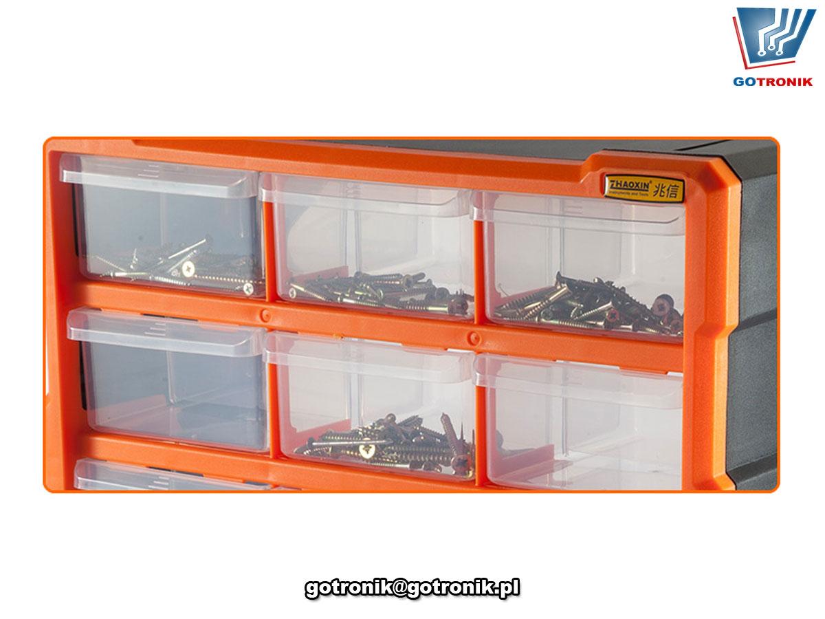 G-1506 regał z 18 szufladkami