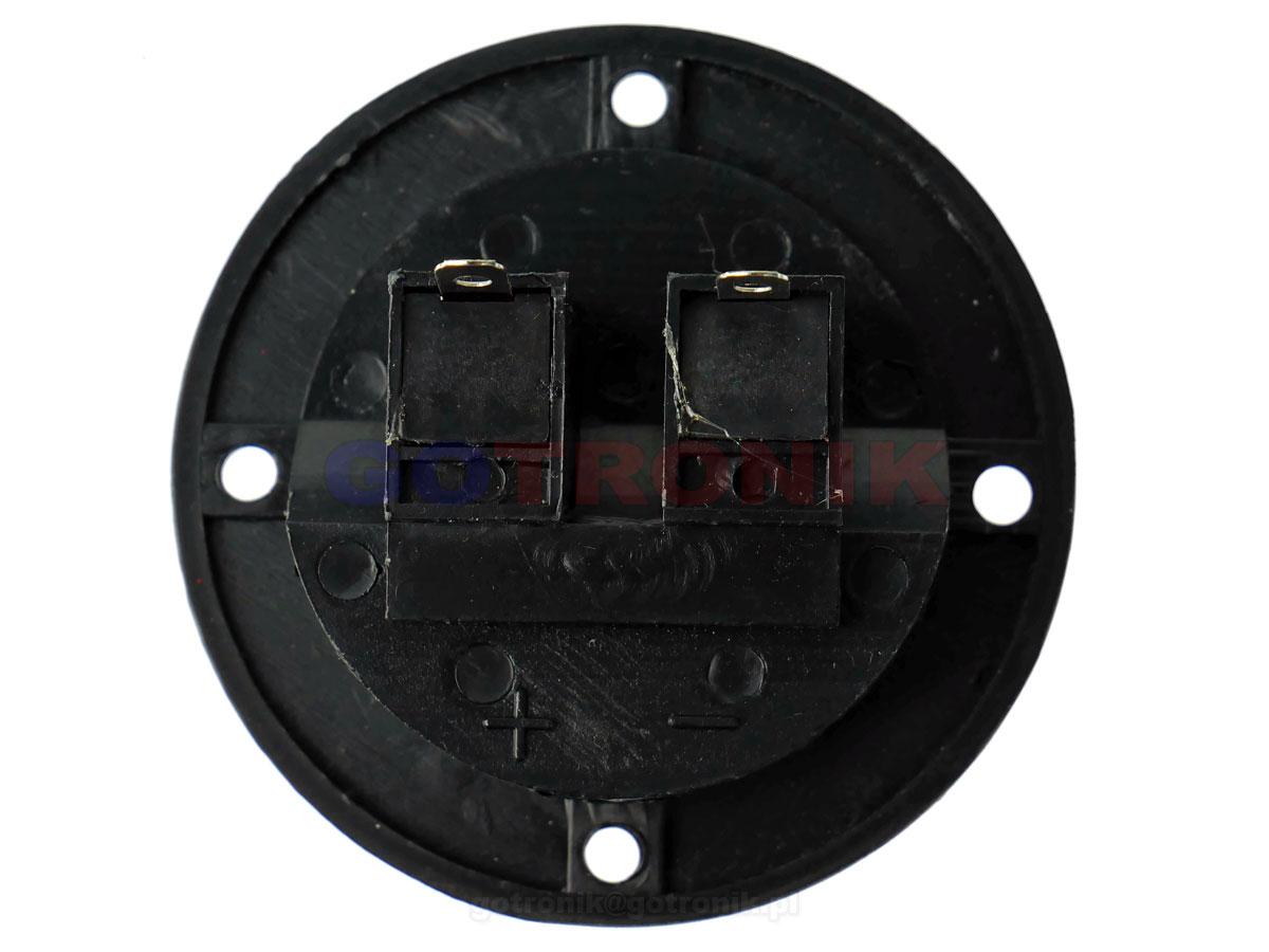 Gniazdo głośnikowe 2 pin okrągłe Ø66mm GNI0238