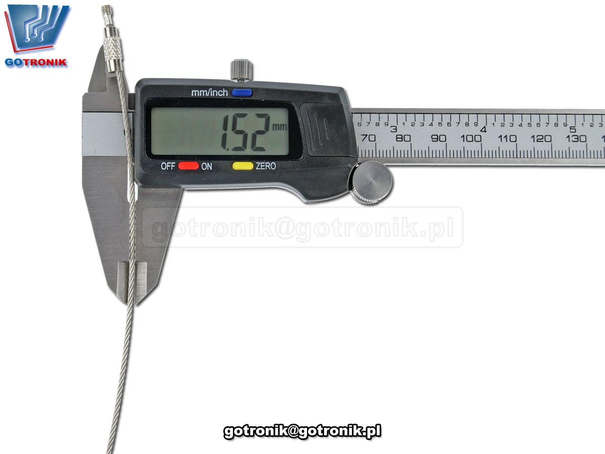 GOT-087 Linka stalowa do breloków i zawieszek 150mm 15cm