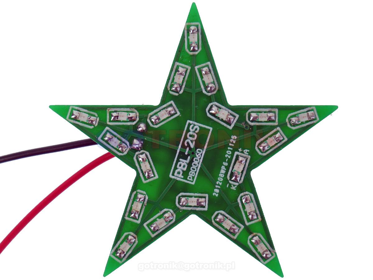 Gwiazda LED pulsujące światło zestaw do samodzielnego montażu KIT/DIY