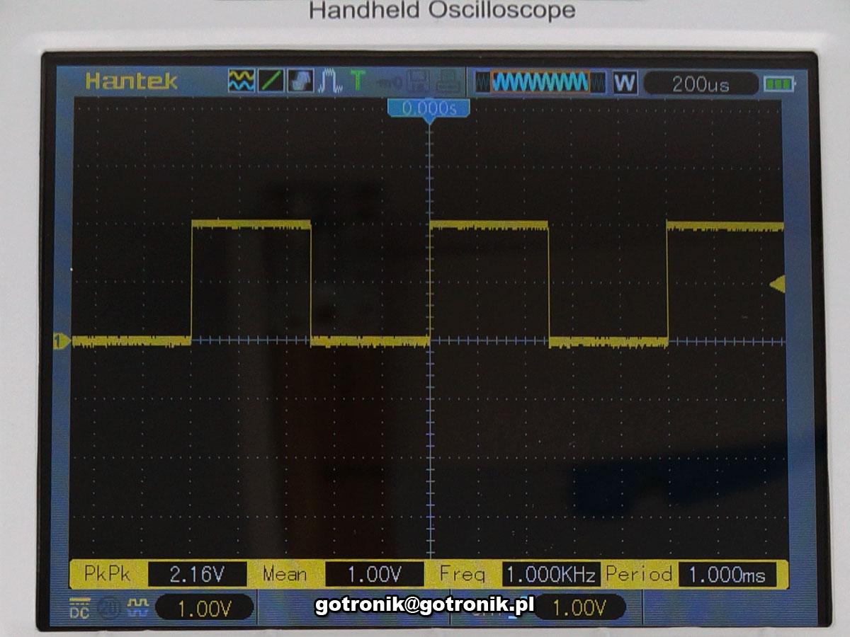 DSO1102B Hantek przenośny oscyloskop z akmulatorem i funkcją miernika cyfrowego x 100MHz