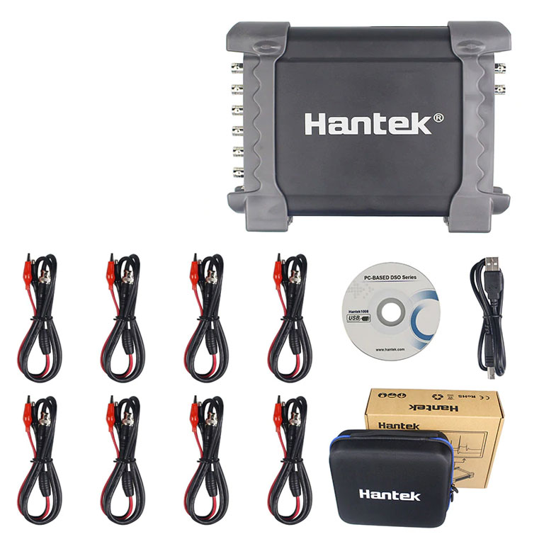Hantek1008B oscyloskop cyfrowy USB przystawka do pomiarów w motoryzacji diagnostyka auta