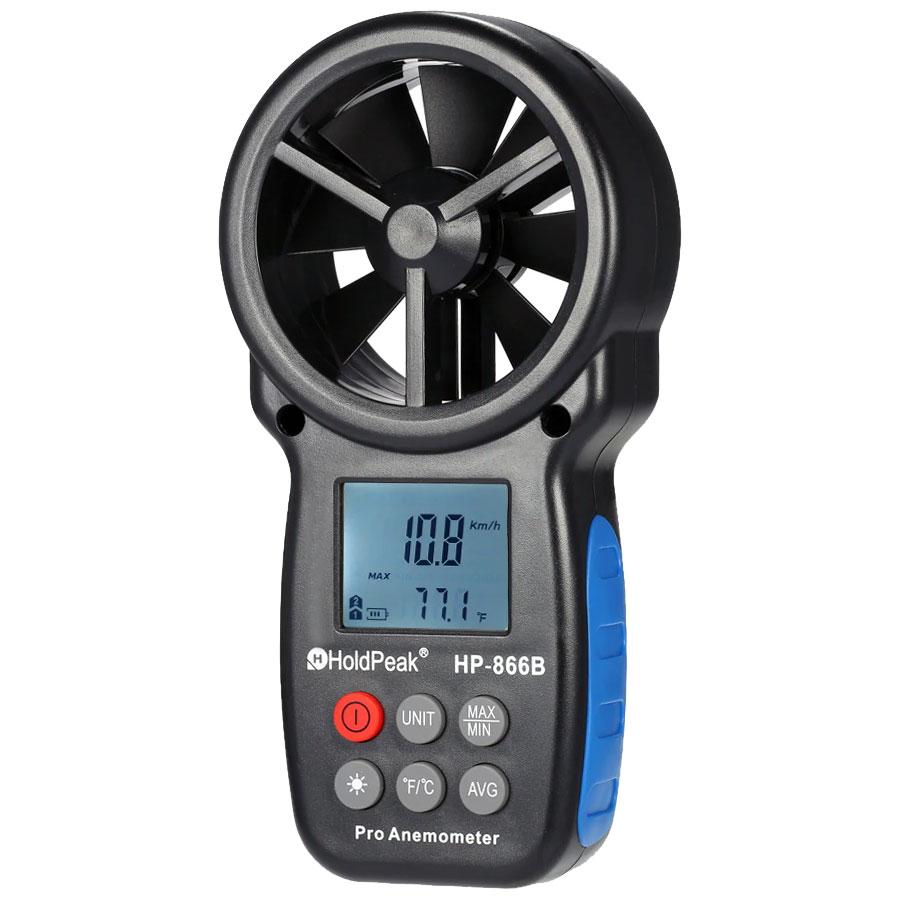 otermoanemometr anemometr HP-866B HoldPeak termometr cyfrowy przepływ powietrza