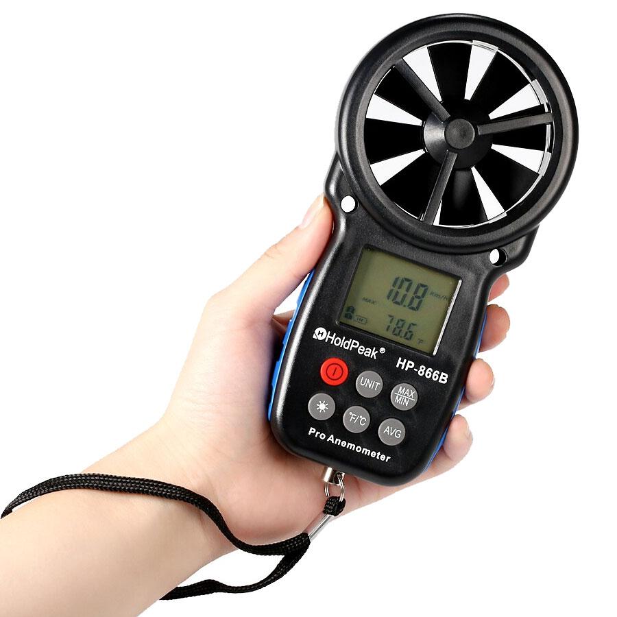 termoanemometr anemometr HP-866B HoldPeak termometr cyfrowy przepływ powietrza