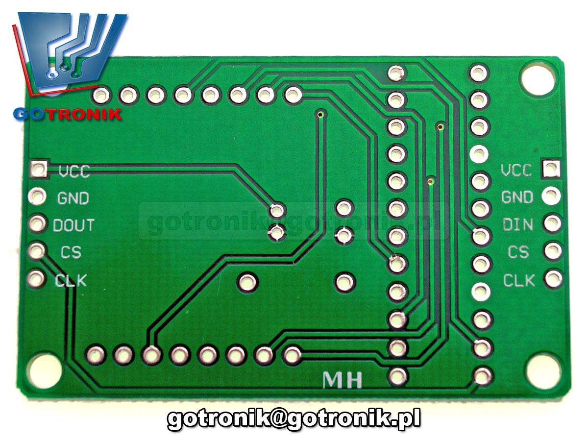 Moduł wyświetlacza matrycy LED matrix 8x8 MAX7219 BTE-164