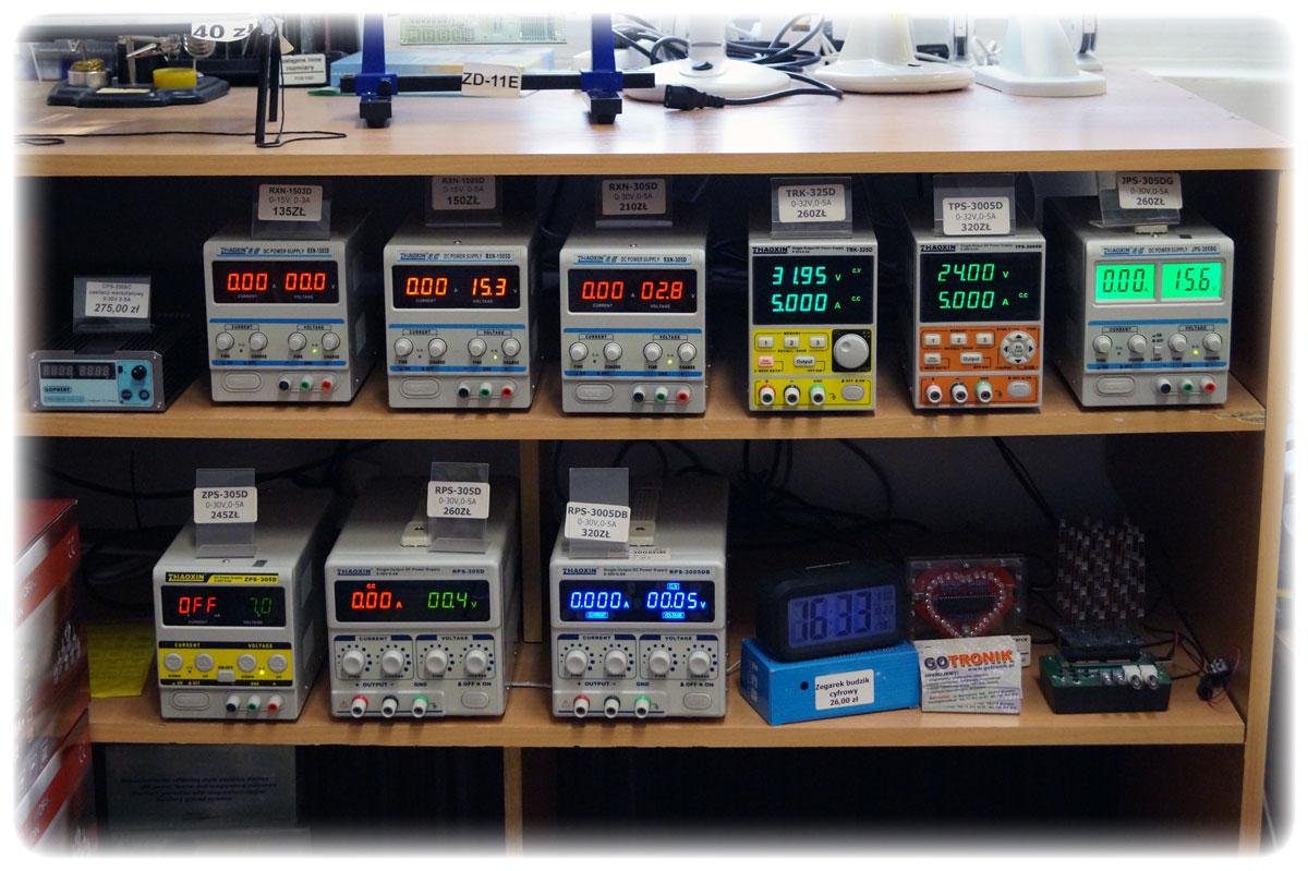 Gotronik ul. Bystrzycka 69C sklep dla elektroników, zasilacze laboratoryjne, zasilacze regulowane DC,
