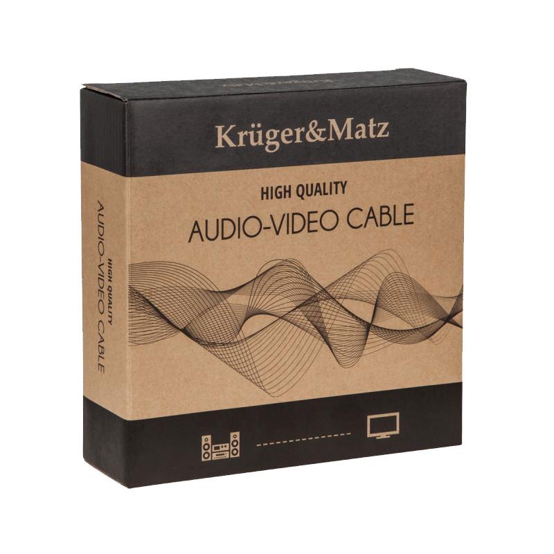 KM0334 produkcji Kruger-Matz Przewody głośnikowe banan 300cm