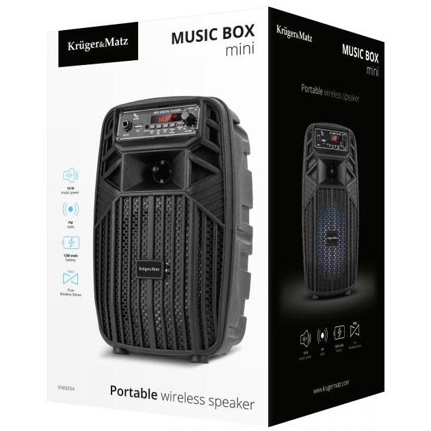 przenośny głośnik bezprzewodowy Kruger&Matz Music Box Mini KM0554