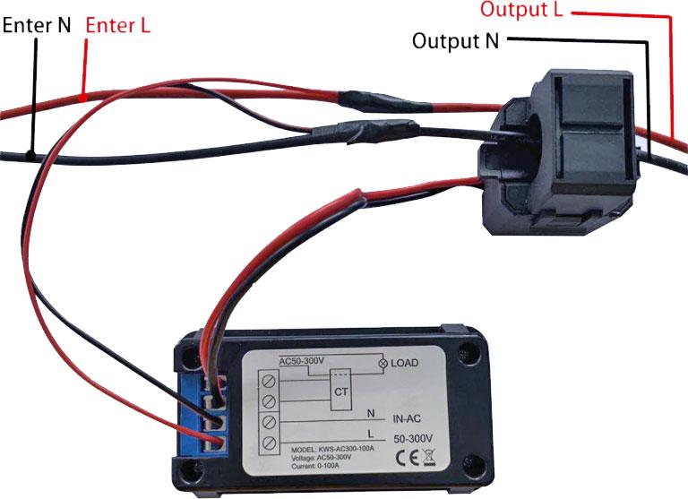 KWS-AC300-100A wielofunkcyjny miernik elektryczny panelowy BTE-1036