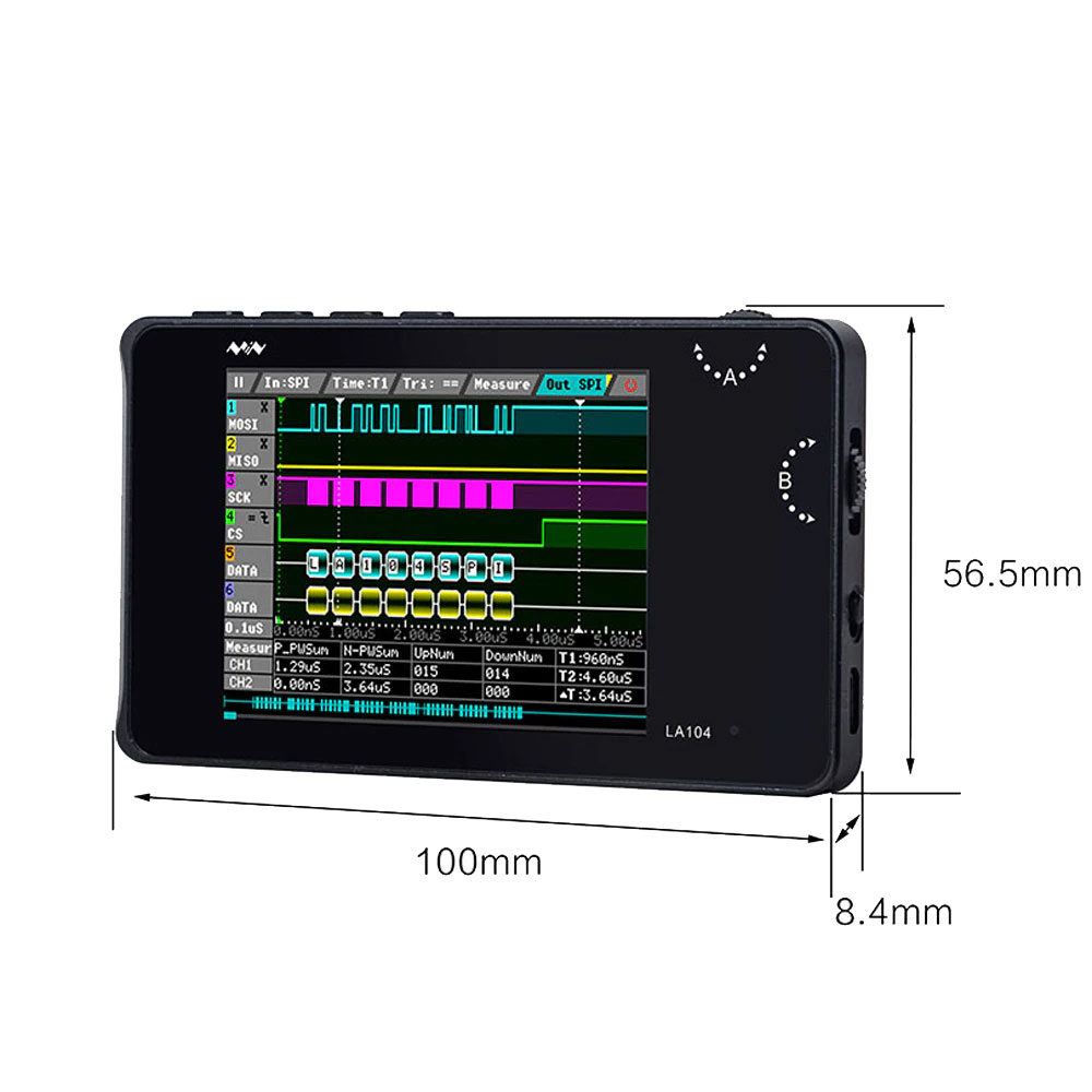 LA104 analizator stanów logicznych przenośny 4 kanałowy MiniWare