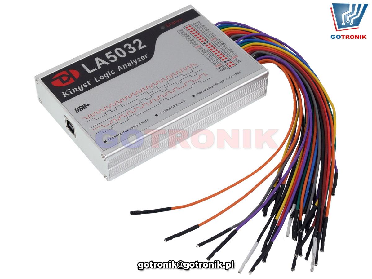 LA5032 analizator stanów logicznych LA-5032 USB 32 kanały Kingst VIS Logic Analyzer