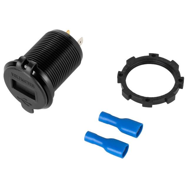 Ładowarka samochodowa 2xUSB QC3.0 Quick Charge 3,0 do montażu z woltomierzem samochodowej 12V do zabudowy PY-CHR0004 Peiying