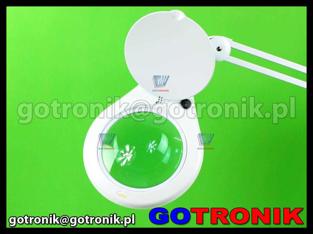 Lampa z lupą 5D 5 dioptrii x2,25 84xLED przykręcana do blatu oświetlenia LAM-030 soczewka 178mm