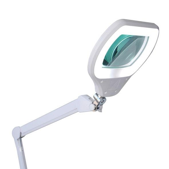 Lampa z lupą 3D 72xLED przykręcana do blatu z regulacją intensywności oświetlenia LAM-031 soczewka 170mm x 105mm