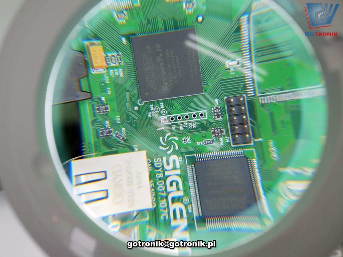 Lampa z lupą 5D 60 LED SMD biurkowa z regulacją intensywności światła LAM-037 elastyczne ramie