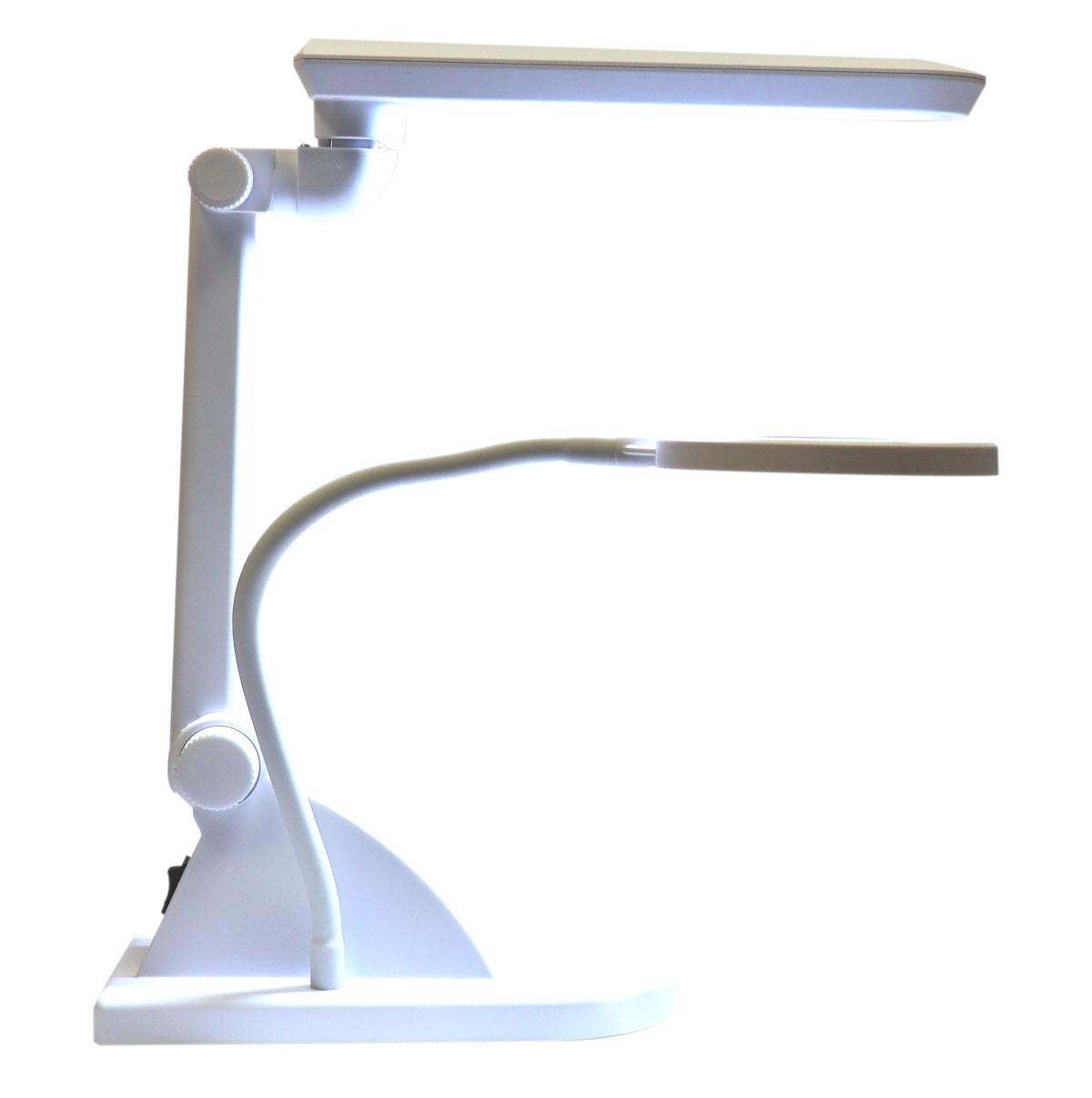 Lupa 5D +20D elastyczne ramie + lampa 30LED SMD stołowa z podstawą