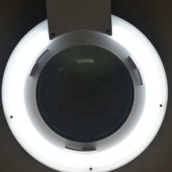 LAM-067, lampa z lupą 5d, lampa 9006LED, lampa ze szkłem powiększającym, lupa z podświetleniem, lupa z oświetleniem, lampa z powiększeniem, Lampa x60 diod LED z lupą o powiększeniu 2D x2,25, LAM-005