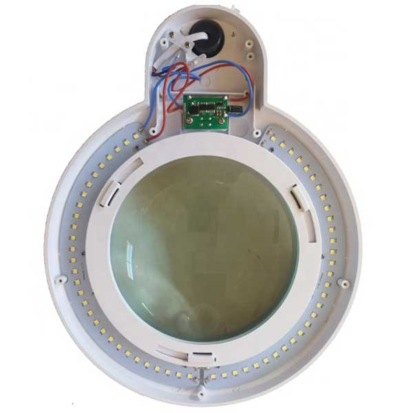LAM-044, lampa z lupą 3d, lampa 9006LED, lampa ze szkłem powiększającym, lupa z podświetleniem, lupa z oświetleniem, lampa z powiększeniem, Lampa x60 diod LED z lupą o powiększeniu 3D x1,75