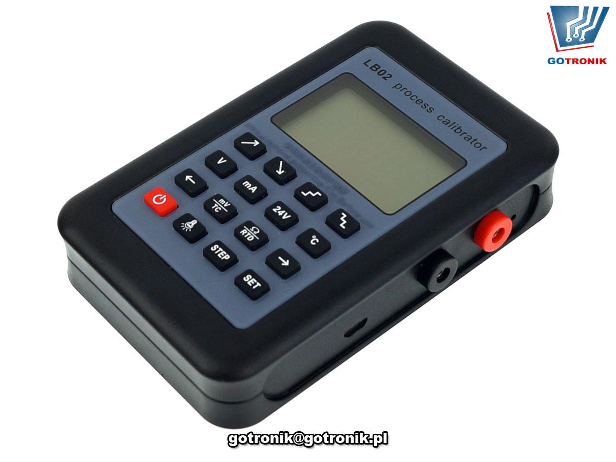 LB02 kalibrator zadanik symulator napięcia,prądu, pętli prądowej czujników termopar