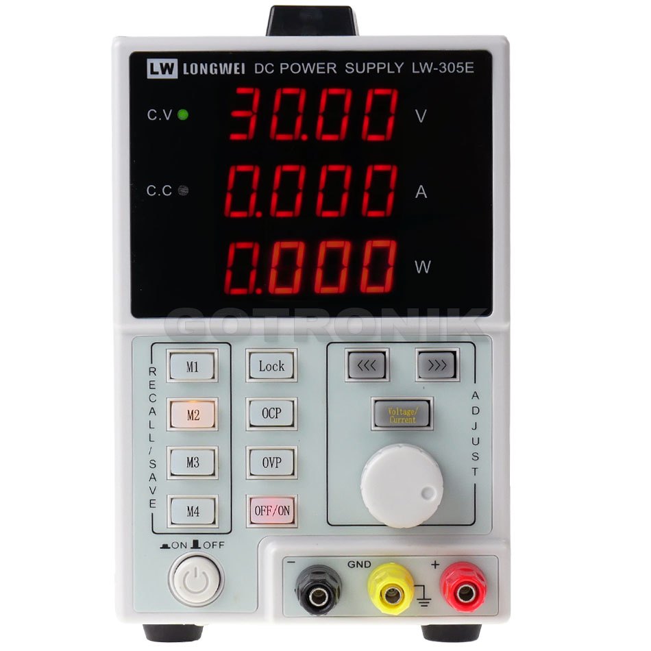 Zasilacz laboratoryjny LW-305E 0-30V 0-5A programowalny RS485 USB 150W