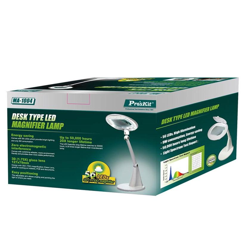 lampa biurkowa z lupą MA1004F produkcji Pro'skit
