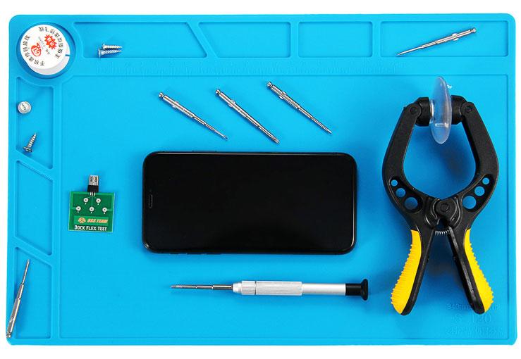 mata silikonowa do serwisu elektroniki gms, rtv, agd, bga 35cm x 25cm S140 S-140
