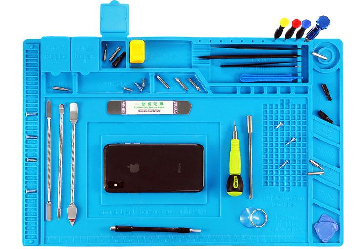 mata silikonowa do serwisu elektroniki gms, rtv, agd, bga 35cm x 25cm S130 S-130