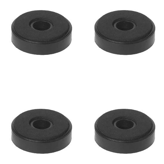Stopki nóżki ozdobne do sprzętu RTV 40mm czarne BLACK x4szt.