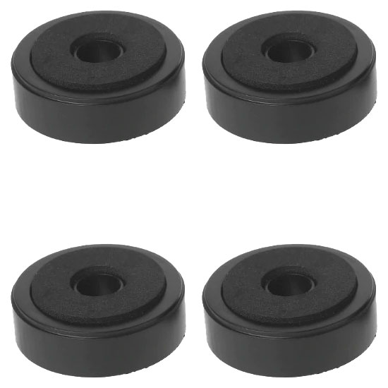Stopki nóżki ozdobne do sprzętu RTV 48mm czarne BLACK x4szt.
