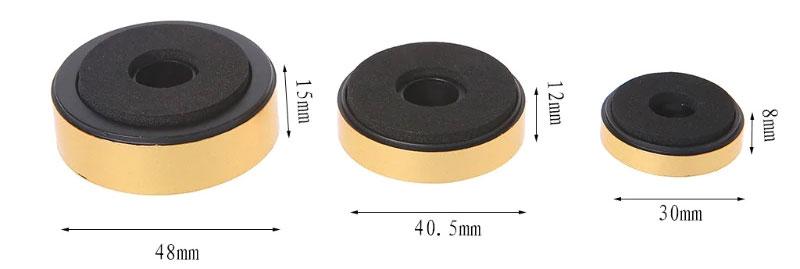 Stopki nóżki ozdobne do sprzętu RTV 40mm złote GOLD x4szt.