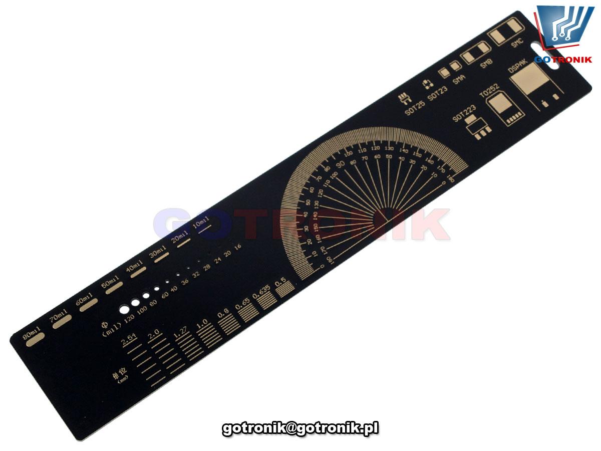 linijka 20cm pcb płytka drukowana ze złoconymi stykami NAR-212