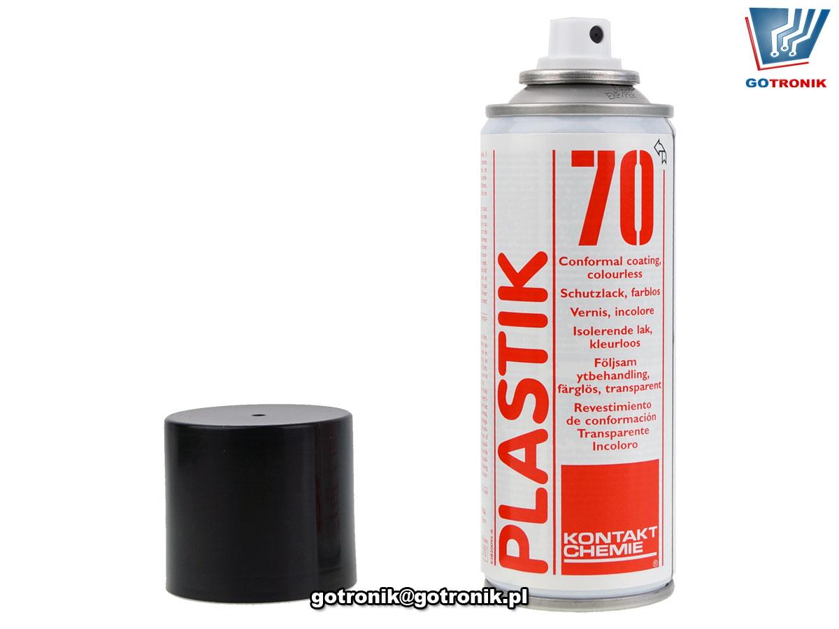 PLASTIK 70 400ml lakier akrylowy w sprayu przezroczysty Kontakt Chemie