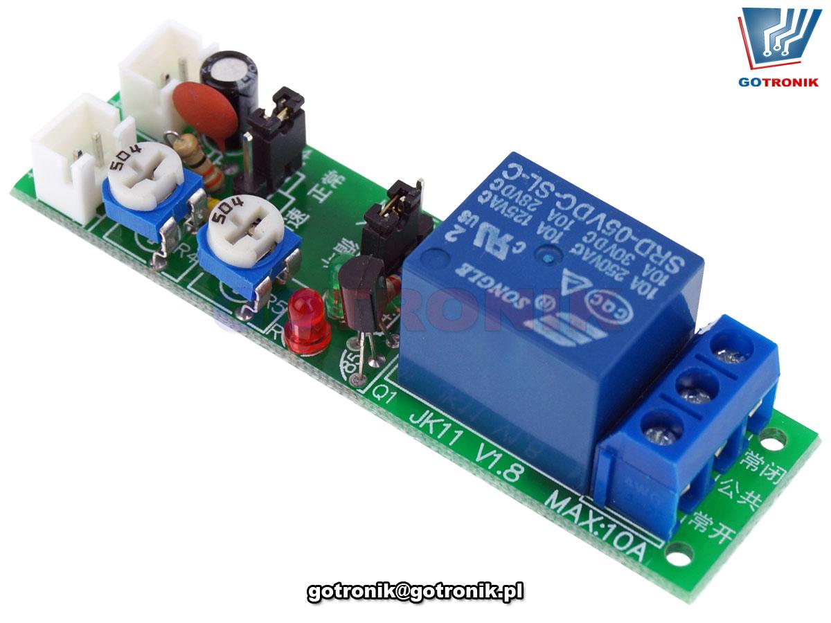Przekaźnik 12V z układem czasowym 1s-100s lub 1s-15minut BTE-853
